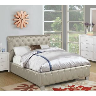 Desirae Polyurethane Upholstered Panel Bed by House of Hampton