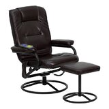 Penobscot Manual Swivel Recliner with Ottoman by Ebern Designs