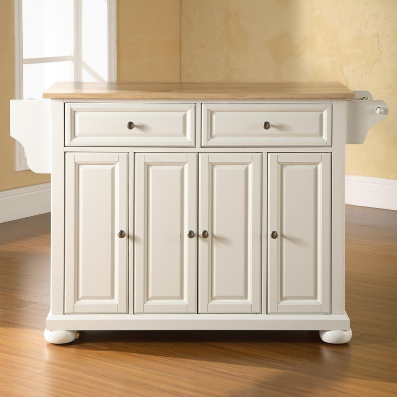Kitchen Island darby home co pottstown kitchen island with wood top & reviews