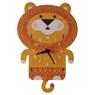 Reviews Lion Pendulum Wall Clock by Modern Moose