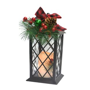Bow LED Plastic Lantern by The Holiday Aisle