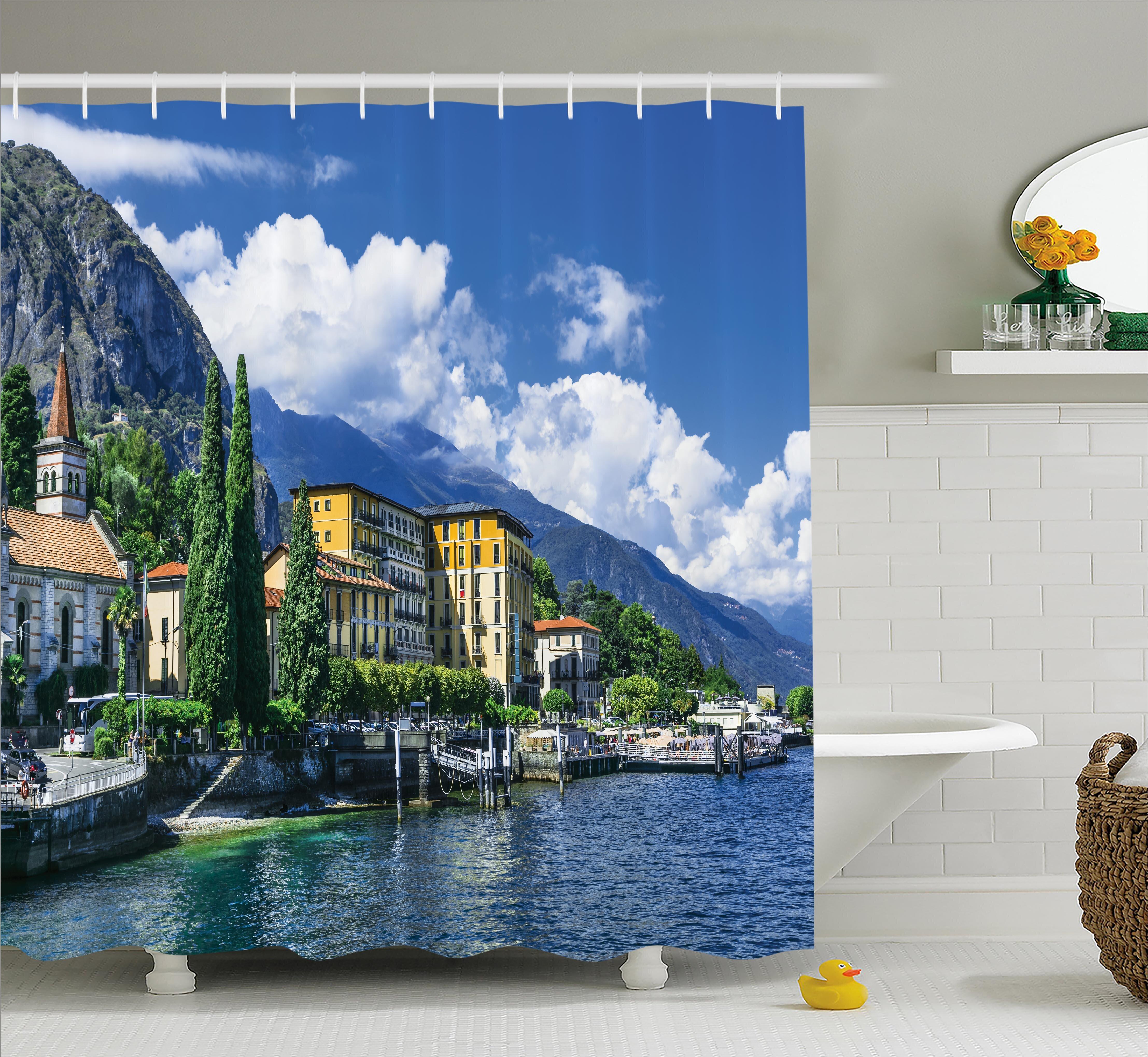 East Urban Home Italy Landscape Of Lake Como Single Shower Curtain Wayfair