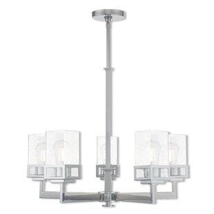 Ebern Designs Nailwell 5-Light Shaded Chandelier
