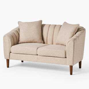 5925 Round Arm Loveseat by George Oliver