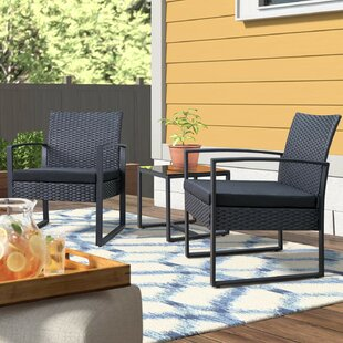 Beoll 3 Piece Rattan with Cushions