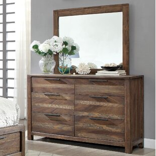 Alyssia 6 Drawer Double Dresser with Mirror