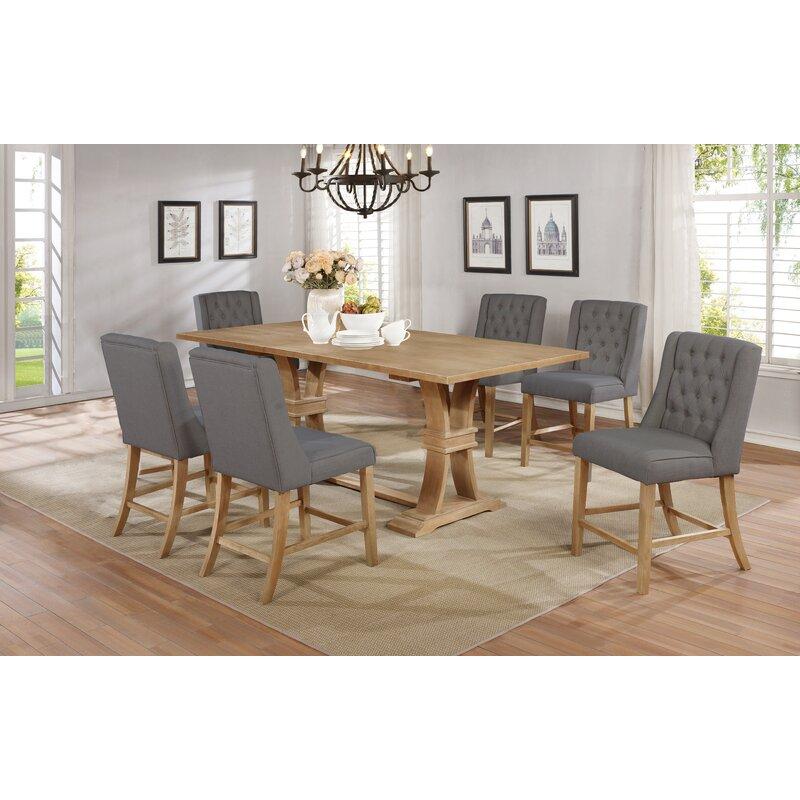 Canora Grey Mowbray 7 Piece Counter Height Extendable Dining Set   Wayfair