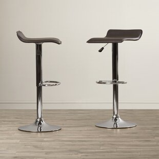 Apple Valley Adjustable Height Swivel Bar Stool (Set of 2) by Charlton Home