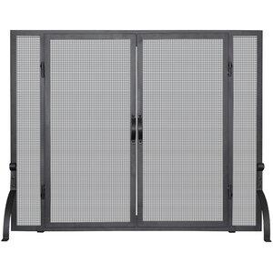 Single Panel Wrought Iron Fireplace Screen