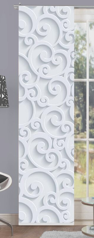 home wohnideen schiebegardine ornamo blickdicht bewertungen. Black Bedroom Furniture Sets. Home Design Ideas