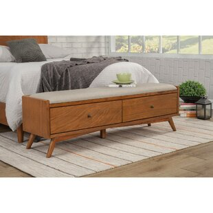 Hingham Fashion Forward Mahogany Wood Storage Bench by George Oliver