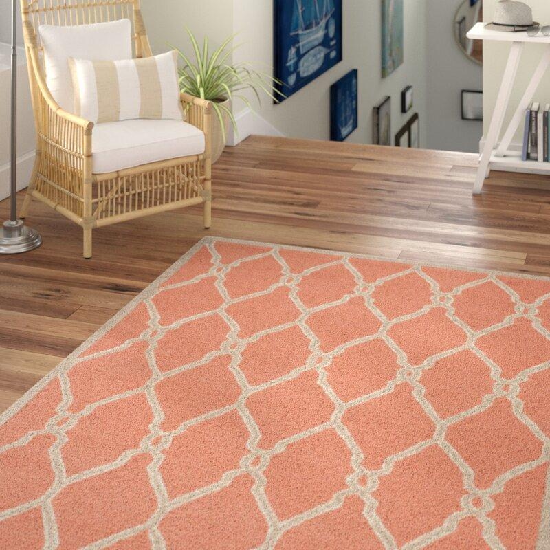 Beachcrest Home Hagley Hand Tufted Wool Coral Area Rug Reviews Wayfair
