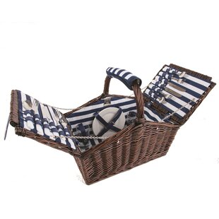 Review Coastal 4 Person Picnic Basket Set