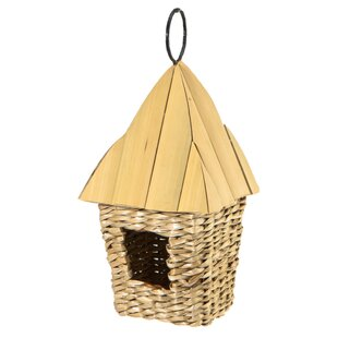 Woodlink Square Roosting Pocket with Bamboo Roof 11.5in x 5in x 5in Birdhouse