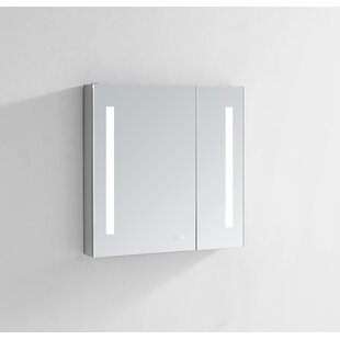 Donnelly 30 X 40 Recessed Or Surface Mount Frameless Medicine Cabinet With 4 Shelves And Led Lighting