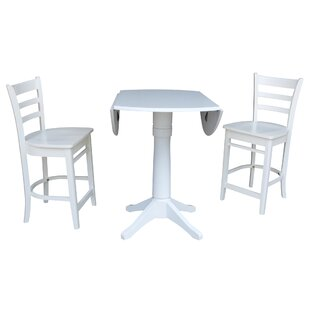 Angelia 3 Piece Pub Table Set