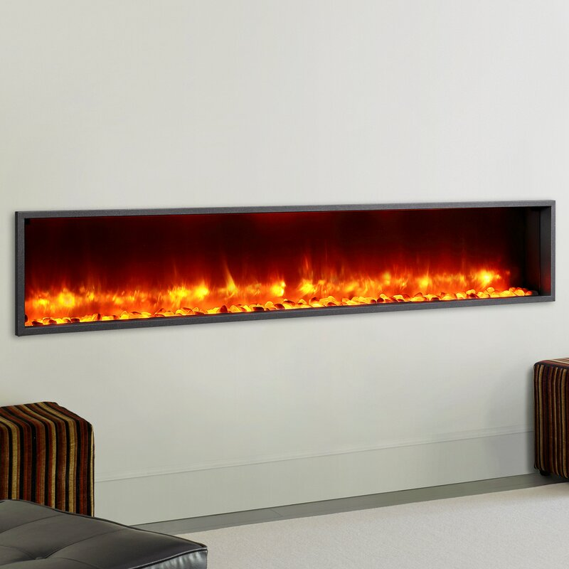 Dynasty 79 Builtin LED Wall Mount Electric Fireplace Insert