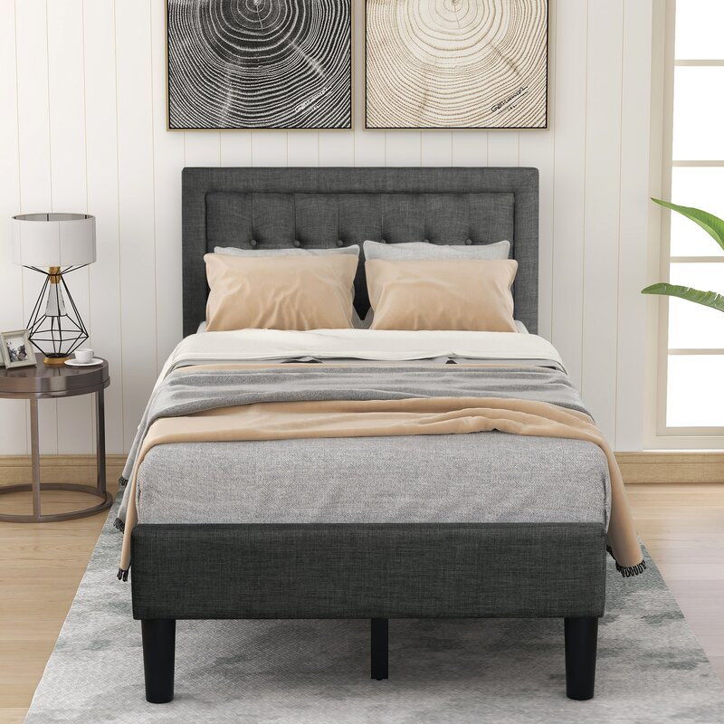 Red Barrel Studio Abdulhaq Tufted Low Profile Platform Bed Wayfair