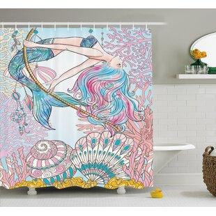 Find a Mackenzie Greek Myth Seashell Shower Curtain ByZoomie Kids