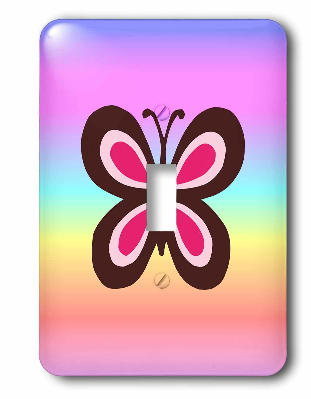 3drose Switch Butterfly 1 Gang Toggle Light Switch Wall Plate Wayfair