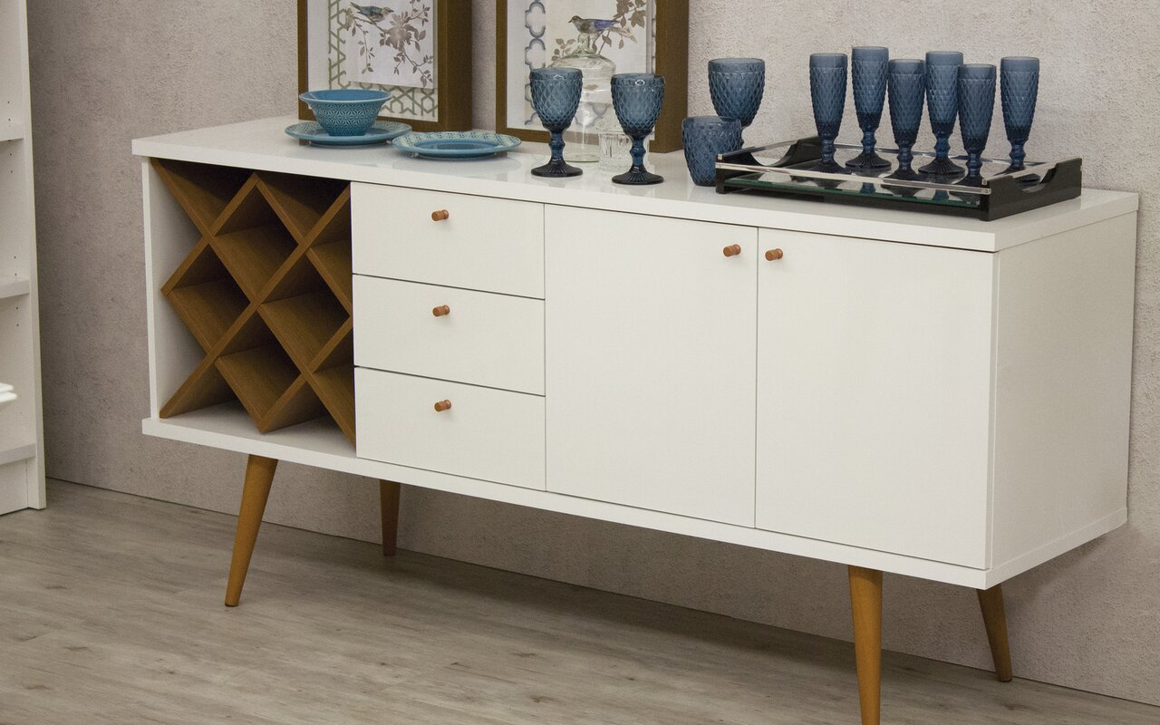 Attractive Lemington Wine Rack Sideboard Buffet Table
