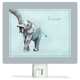 Oopsy Daisy Personalized You And Me Elephant Canvas Night Light