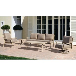 Darby Home Co Caressa Deep Sunbrella Seating Group with Cushions