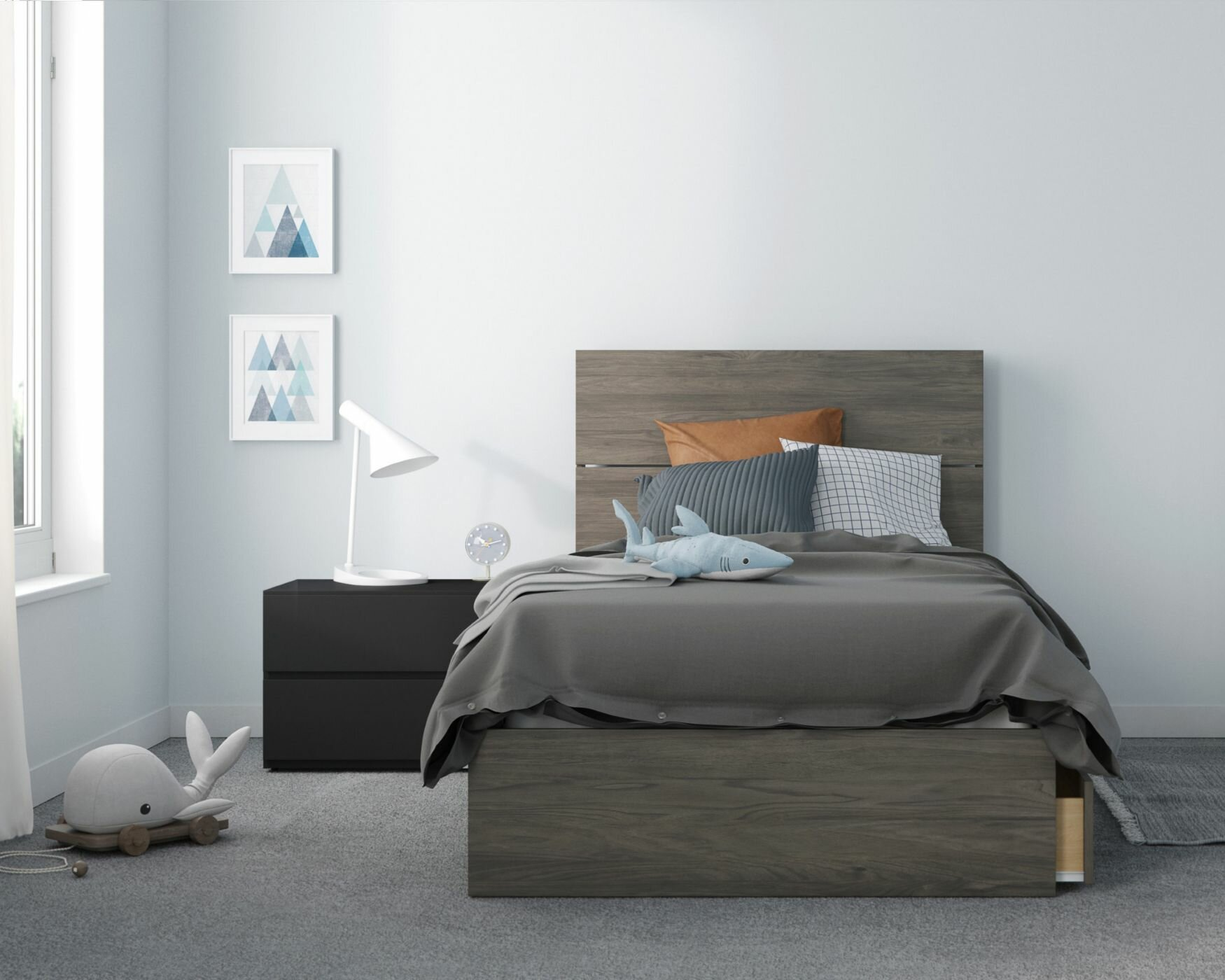 Ebern Designs Ozge Platform 3 Piece Bedroom Set Wayfair
