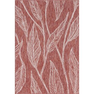 Kyzer Red/Gray Indoor/Outdoor Area Rug