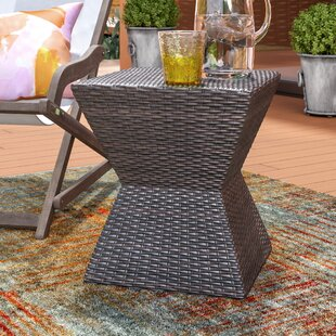 Pasternak Outdoor End Table by Wrought Studio