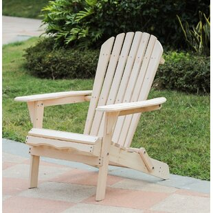 Aydin Solid Wood Adirondack Chair by Highland Dunes