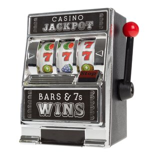 Casino Slot Machine Coin Bank by Trademark Games