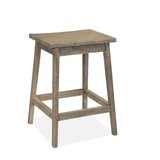 Abelardo Solid Wood 24'' Counter Stool by Union Rustic