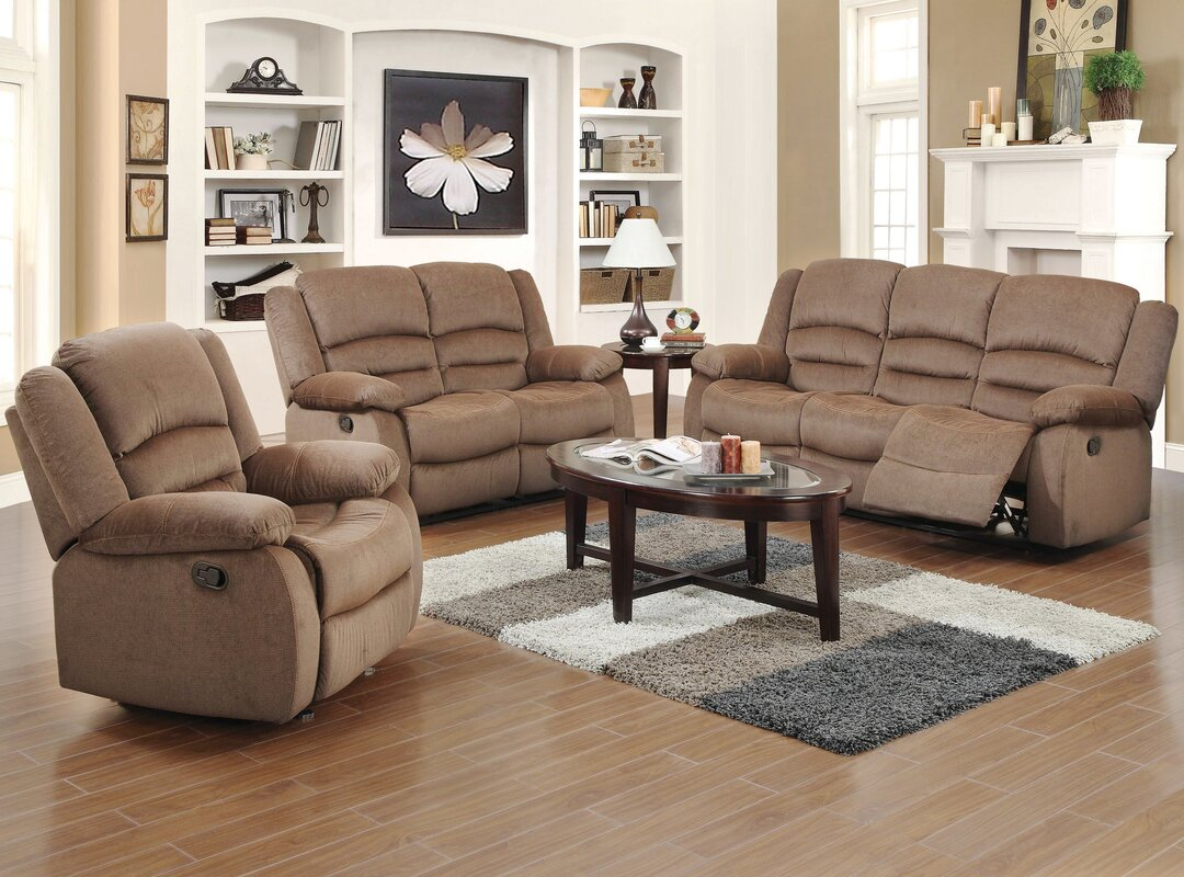 Red Barrel Studio Maxine 3 Piece Living Room Set & Reviews | Wayfair