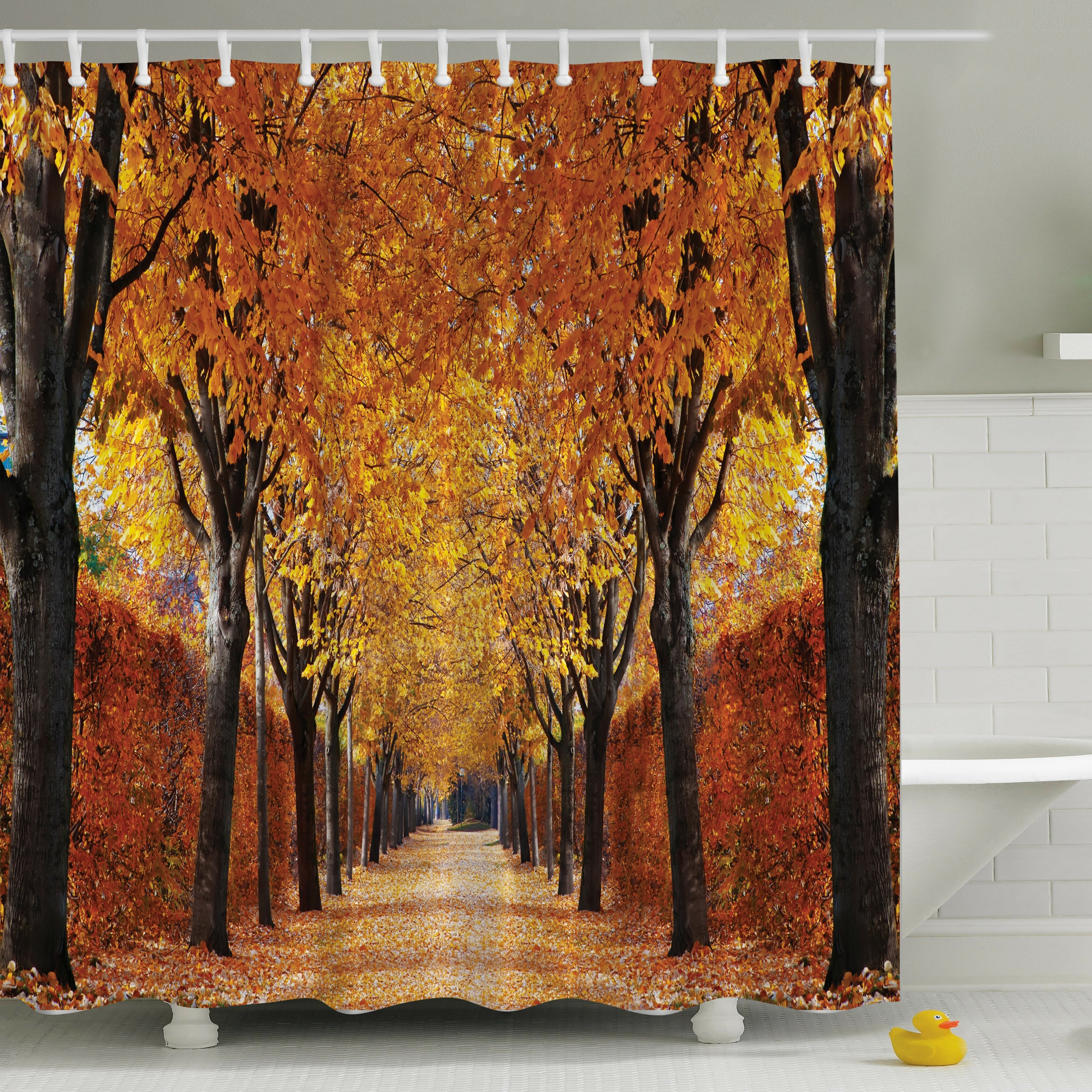 Ambesonne Fall Perspective Print Shower Curtain & Reviews | Wayfair