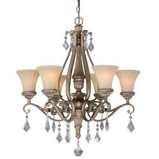 Vaxcel Avenant 6-Light Shaded Chandelier