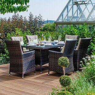 Mapleview 6 Seater Dining Set With Cushions By Sol 72 Outdoor