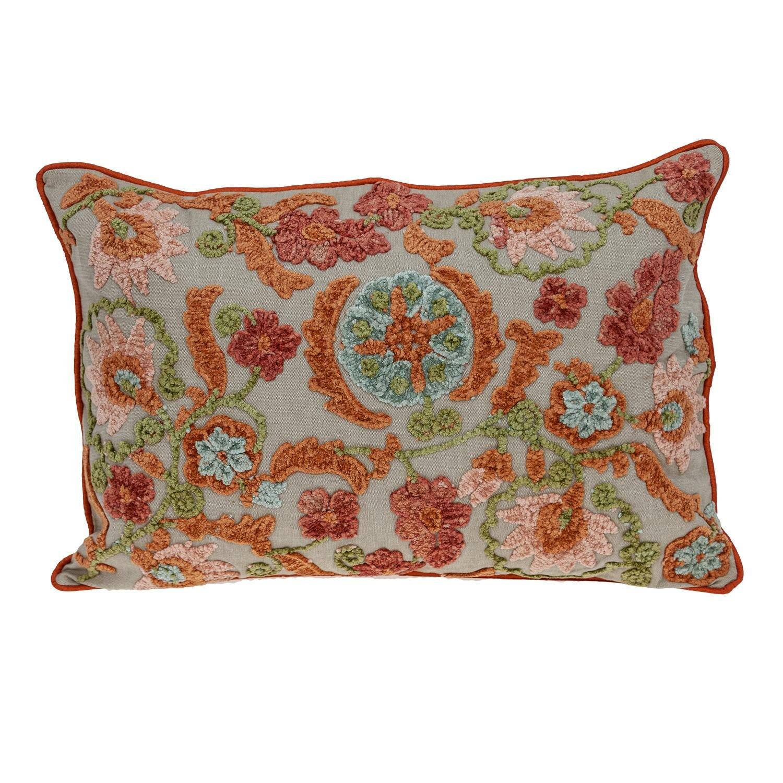 August Grove Hughey Floral Lumbar Pillow Wayfair