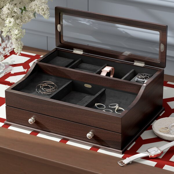 Monogramed with Initial of Your Choice for a Personalized Gift. Antiqued Wooden Dresser Valet is a great way to store accessories in style