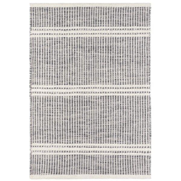 Dash And Albert Rugs Malta Striped Handmade Flatweave Wool Gray Ivory Area Rug Reviews Wayfair