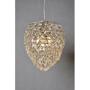 Bungalow Rose Gallion 3-Light Crystal Chandelier