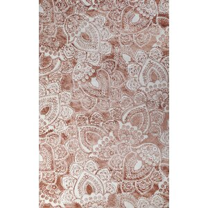 Farina Hand-Woven Coral/ivory Indoor Area Rug