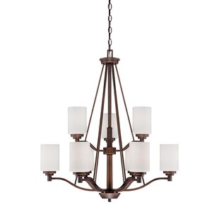 Andover Mills Hester 9-Light Shaded Chandelier