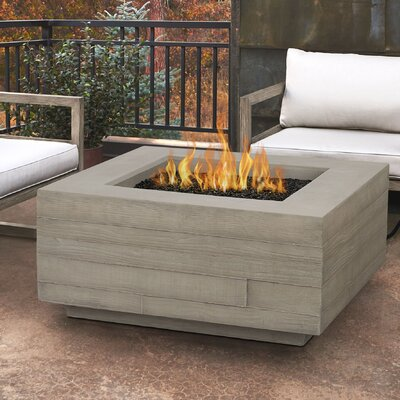 Board Form Concrete Propane/Natural Gas Fire Pit Table