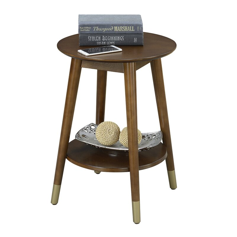 Turn on the Brights  Makenna End Table Color: Espresso