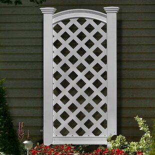 New England Arbors Luxembourg Vinyl Lattice Panel Trellis