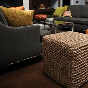 Best Reviews Laflin Corded Pouf By Alcott Hill