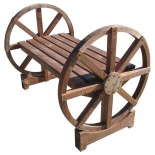 Wheel Wood Garden Bench