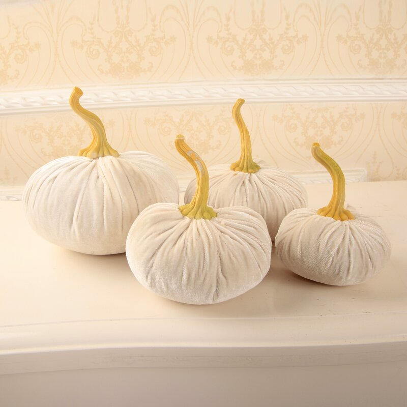 Velvet Pumpkin Decorative Accent