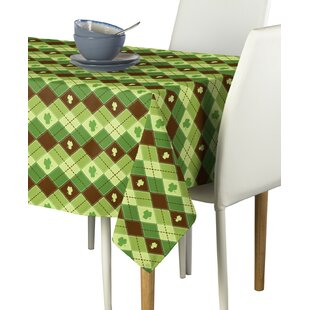 Essex Street Lucky Shamrock Argyle Milliken Signature Tablecloth by The Holiday Aisle Best #1